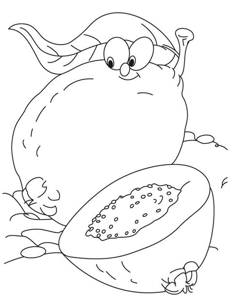 guava coloring pages download and print guava coloring pages
