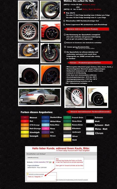 Felgenaufkleber Erstellen by Felgenrandaufkleber 6mm Porsche 911 Gt2 Rs Ebay