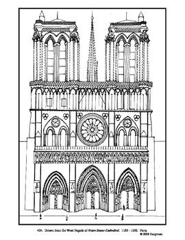 lesson plan template notre dame notre dame cathedral coloring page and lesson plan ideas
