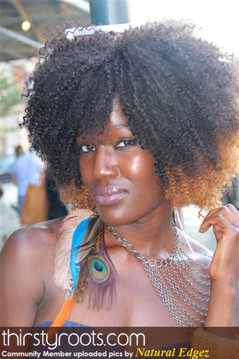 two tone short afro natural edgez two tone weave afro thirstyroots com