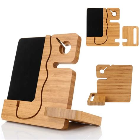 Wooden Smartphone Holder 1 aliexpress buy universal splicing wooden phone stand