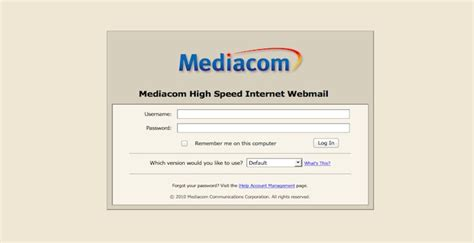 pin mediacom email login image search results on