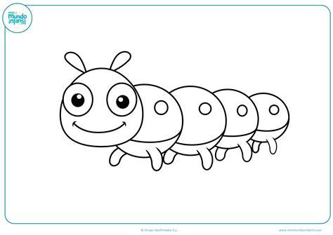 imagenes para colorear oruga dibujos de insectos para colorear mundo primaria