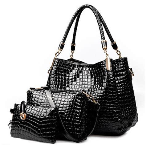 3 pc set 2015 nouvelle crocodile bolsa feminina en cuir