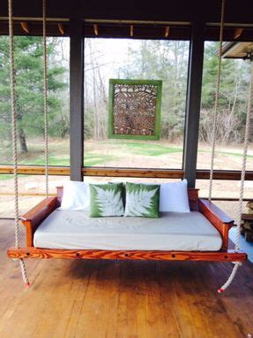 custom rustic porch bed swing  carolina porch swings custommadecom