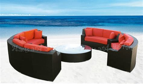 round sectional outdoor furniture round outdoor wicker sectional sofa patio furniture set ebay
