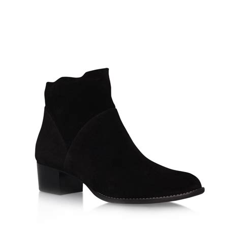 paul green hattie low block heel ankle boots in black lyst