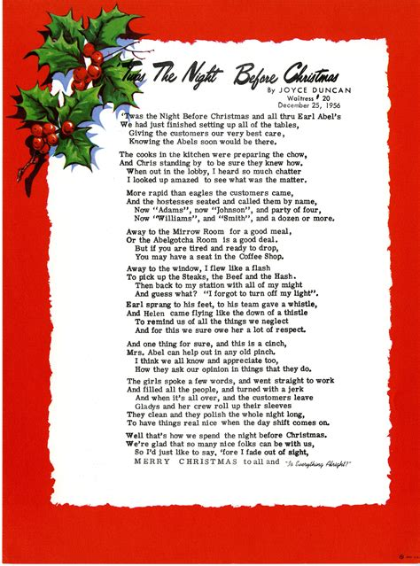 twas the night before christmas song lyrics