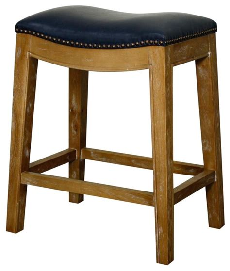 blue leather counter stools elmo bonded leather counter stool with weathered legs