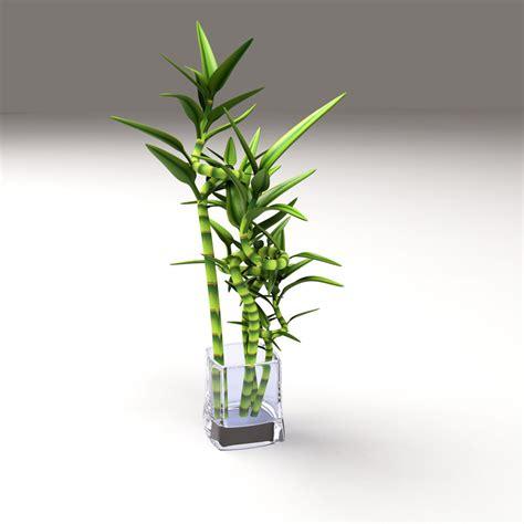 3d model bamboo glass vase