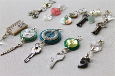 Vintage Giveaways - charm week day 3 using vintage items to make charms emerging creatively jewelry