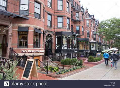 we buy houses boston red brick house boston newbury st stock photo royalty free image 89192269 alamy