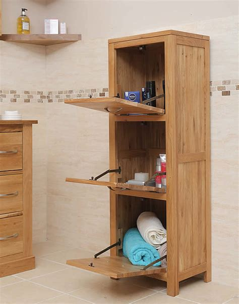 Oak Freestanding Bathroom Furniture 50 Solid Oak Free Standing Bathroom Storage Unit