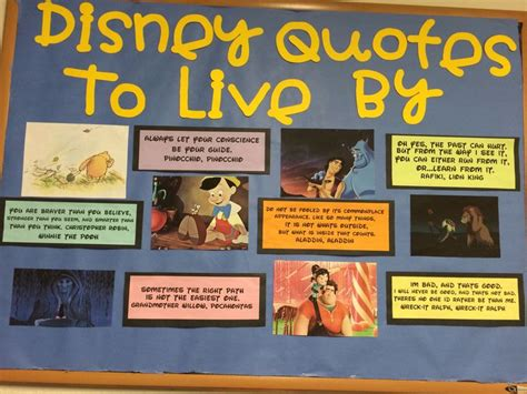 good themes to live by my disney inspirational bulletin board ra ideas