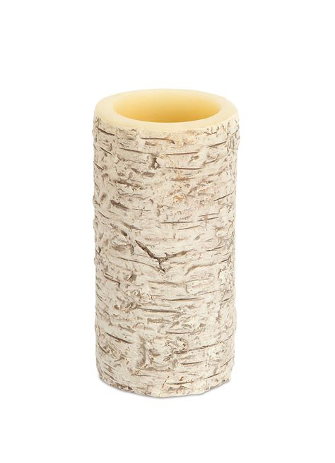 Look That Candles On by 6 Quot X 3 Quot Birch Bark Look Led Candle Northpoledecor