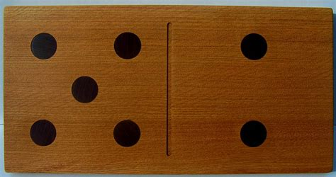 Handmade Dominos - handmade domino chopping board by thumb print