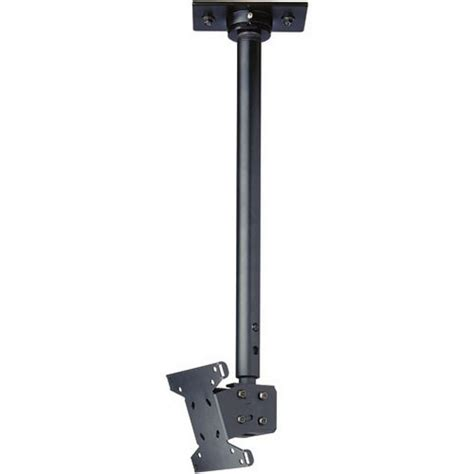 lcd ceiling mount peerless lcc18 lcd 18 30 quot ceiling mount black