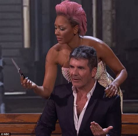 Try Not To Nightmares And Simon Made Of Wax by Mind Reader Prompts Mel B To Stab Simon Cowell On Agt