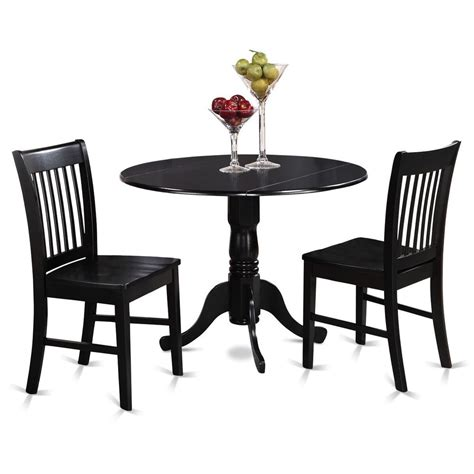 black kitchen table bench 3pc dinette dublin drop leaf kitchen pedestal table 2