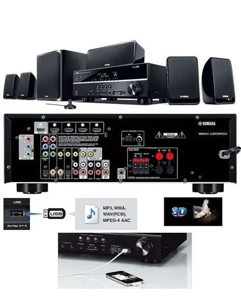 home theater  yamaha yht  receiver caixas