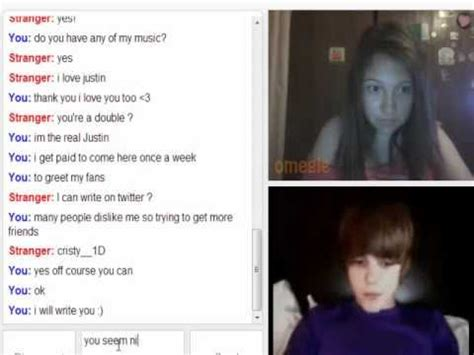 boy girl omegle justin beiber omegle prank youtube