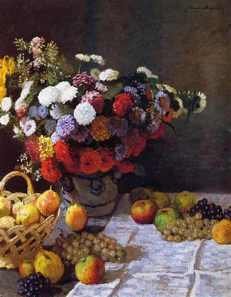 flowers and fruit flowers and fruit 1869 claude monet wikiart org