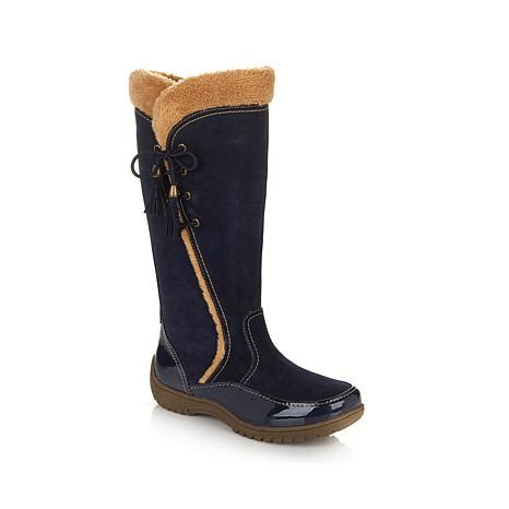 hsn sporto boots hsn sporto 174 waterproof suede boot with tassel lace
