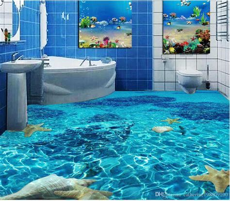 Classic Home Decor Seawater Toilet Bathroom Bedroom 3d