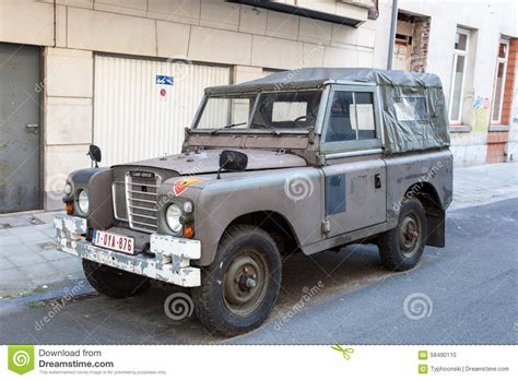 older land rover old land rover editorial image image of adventure parked