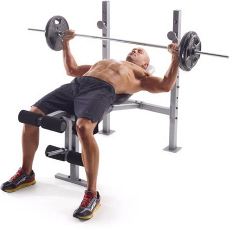 benching 100 pounds 100 lb weight set bench gold gym weights lifting barbell