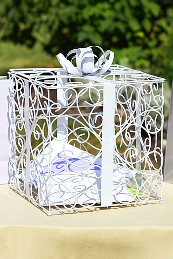 Metal Gift Card Holder - metal scroll gift card box holder