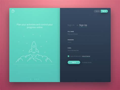 sign in mobile 50 mobile login and signup forms for your inspiration