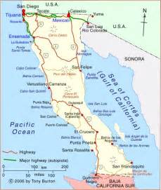 mexico california map map of california and mexico deboomfotografie