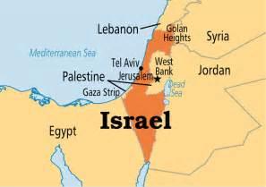 World Map Israel by Israel Operation World