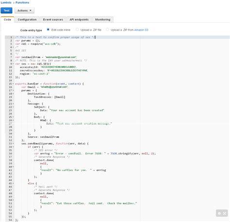 aws lambda tutorial node js project node js lambda sending mail tutorial on how to