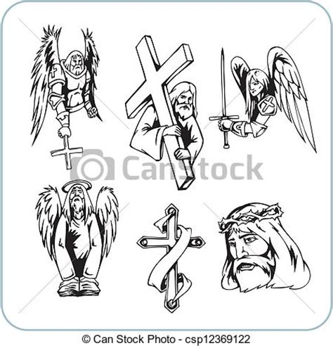 clipart religiose 기독교도 종교 벡터 삽화 vinyl ready csp12369122의 벡터 일러스트 클립