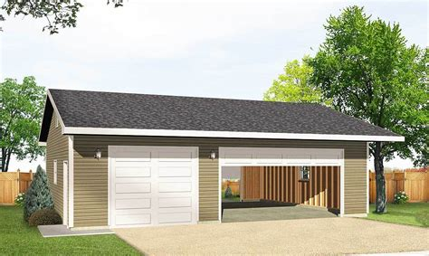 how big is a 3 car garage detached 3 car drive thru garage 22046sl architectural