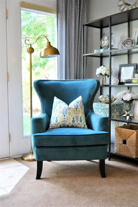 designing home  endearing blue accent chairs