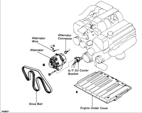 1997 lexus ls400 alternator wiring diagram wiring