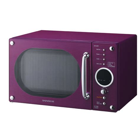 colorful microwaves daewoo kor6n9rp gloss purple 20l microwave review