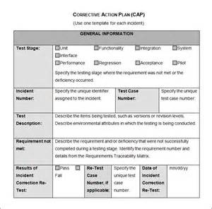 plan of correction template corrective plan template 23 free word excel pdf