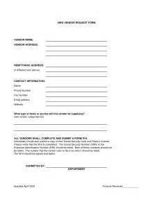 Vendor Request Form Template by New Vendor Request Form Template Modifikasi Sepeda Motor