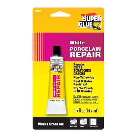 fix in porcelain super glue 0 5 fl oz white porcelain repair 12 pack