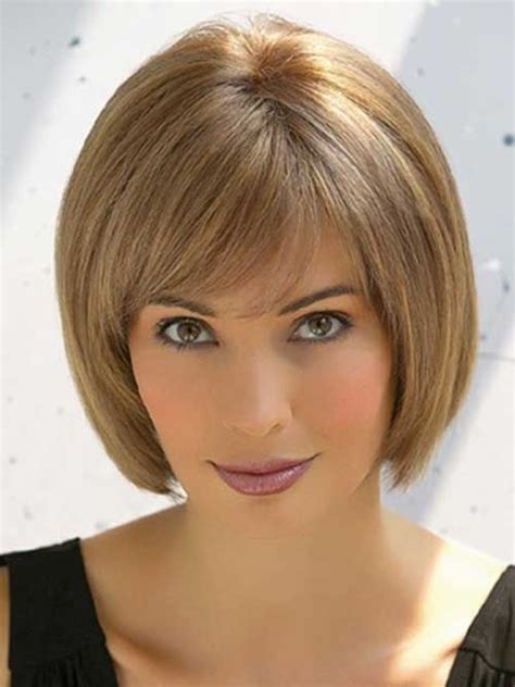 ways to style chin length thin hair 20 best chin length bob with bangs bobs thin hairstyles