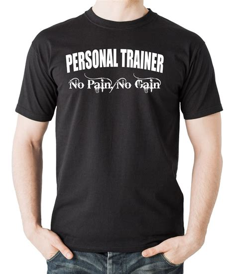 Poloshirt Personal Trainer personal trainer t shirt gift for personal trainer no no gain shirt ebay