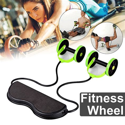 double ab roller wheel sport core fitness abdominal