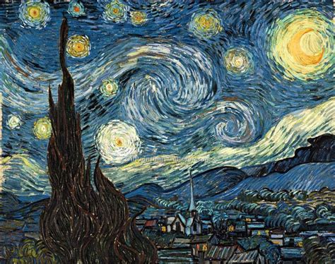 starry night the starry night by vincent van gogh painting id vg 0111 ka