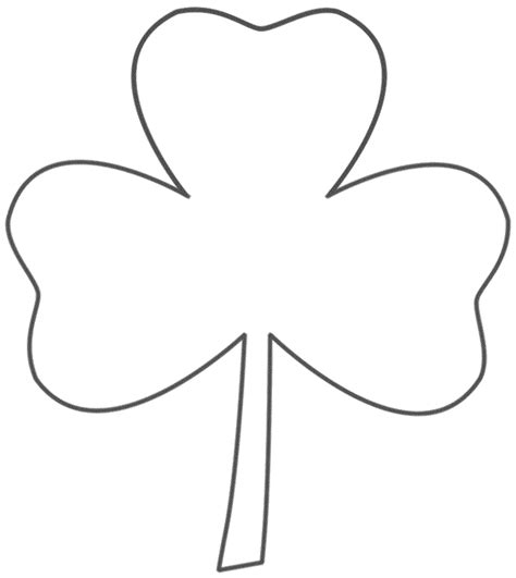 Coloring Page 3 Leaf Clover by Coloring Page Kid Crafts Three Leaf Clover