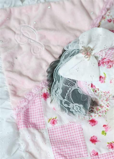 pink shabby chic blanket yvette ruta designs