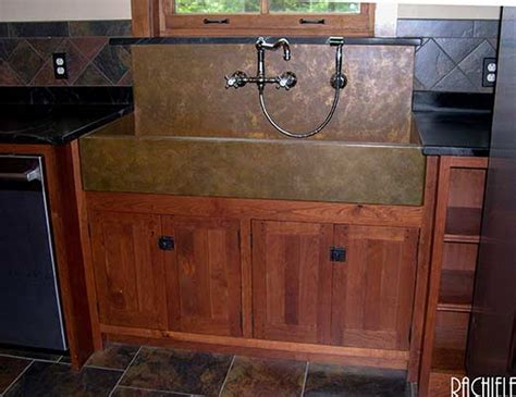 farm sink with backsplash copper sinks with integral back splashes by rachiele